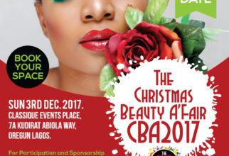 Book Your Space – The Christmas Beauty A'Fair 2017 (CBA2017)