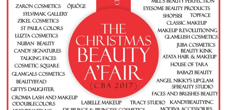 70 Makeup & Beauty Vendors to exhibit at The Christmas Beauty A'Fair 2017